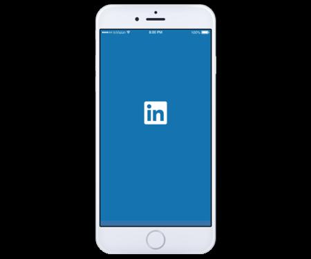 LinkedIn App Landing Page