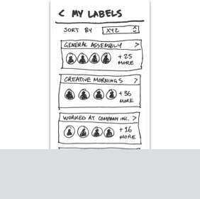 Link to Find Contact Using Tags Paper Prototype User Flow
