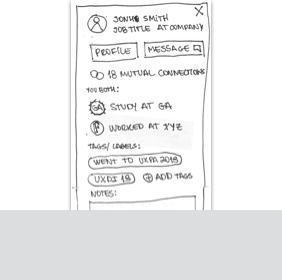 Link to Remember Contact Paper Prototype User Flow
