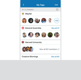 Link to Find Contact Using Tags Digital Prototype User Flow