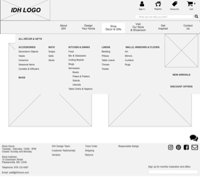 Link to Mega Menu Wireframe