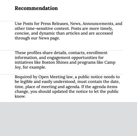 Link to Examples of Content Description Recommendations